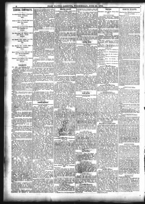 Fort Wayne Daily Gazette from Fort Wayne, Indiana on June 20, 1883 · Page 2