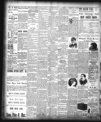 The Fort Wayne Sentinel from Fort Wayne, Indiana on September 10, 1894 · Page 4