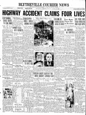 The Courier News from Blytheville, Arkansas on January 22, 1938 · Page 1