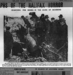 Rescue effort following Halifax Explosion