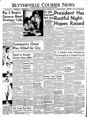 The Courier News from Blytheville, Arkansas on September 27, 1955 · Page 1