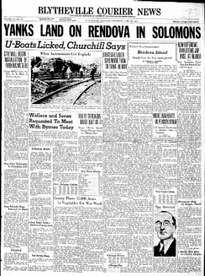 The Courier News from Blytheville, Arkansas on June 30, 1943 · Page 1