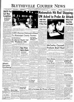 The Courier News from Blytheville, Arkansas on September 7, 1954 · Page 1