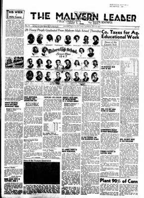 The Malvern Leader from Malvern, Iowa on May 29, 1947 · Page 1