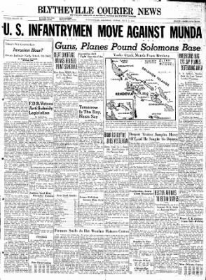 The Courier News from Blytheville, Arkansas on July 2, 1943 · Page 1