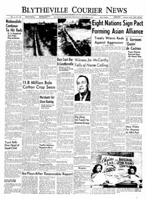 The Courier News from Blytheville, Arkansas on September 8, 1954 · Page 1