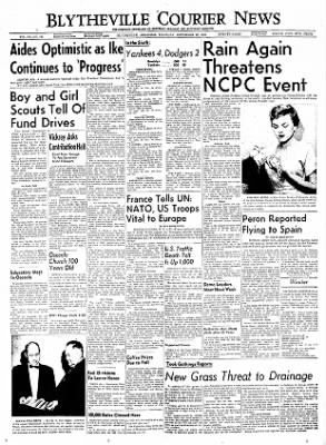 The Courier News from Blytheville, Arkansas on September 29, 1955 · Page 1