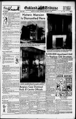 Oakland Tribune from Oakland, California on September 12, 1956 · 29