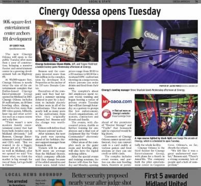 Cinergy Odessa opening article