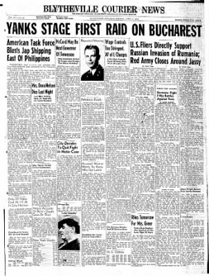 The Courier News from Blytheville, Arkansas on April 4, 1944 · Page 1
