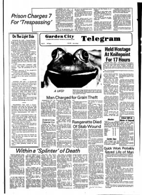 Garden City Telegram from Garden City, Kansas on August 24, 1976 · Page 1