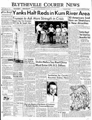 The Courier News from Blytheville, Arkansas on July 18, 1950 · Page 1