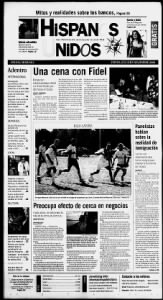 Sample Hispanos Unidos front page
