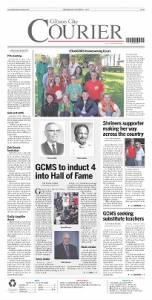 Sample Gibson City Courier front page