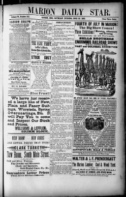 The Marion Star from Marion, Ohio on June 30, 1883 · 1