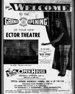 Ector theatre opening