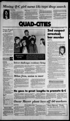 Quad-City Times from Davenport, Iowa on February 18, 1984 · 3