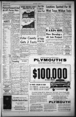 The Odessa American from Odessa, Texas on May 25, 1956 · 21