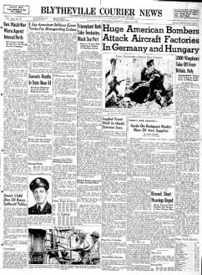 The Courier News from Blytheville, Arkansas on April 13, 1944 · Page 1