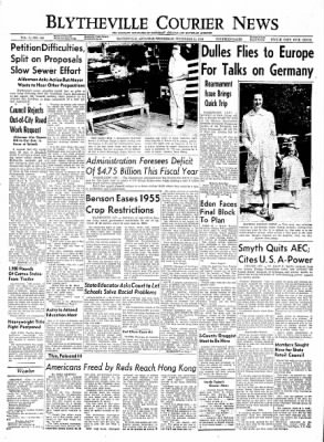 The Courier News from Blytheville, Arkansas on September 15, 1954 · Page 1