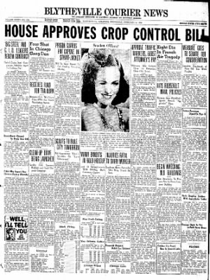 The Courier News from Blytheville, Arkansas on February 9, 1938 · Page 1