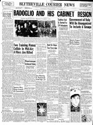 The Courier News from Blytheville, Arkansas on April 17, 1944 · Page 1
