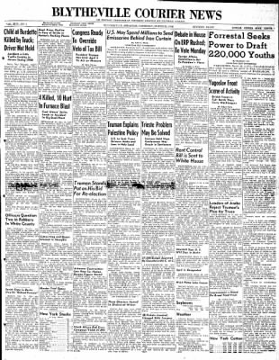 The Courier News from Blytheville, Arkansas on March 25, 1948 · Page 1