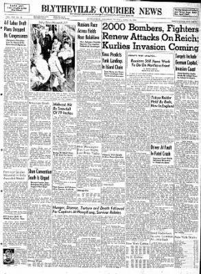 The Courier News from Blytheville, Arkansas on April 18, 1944 · Page 1