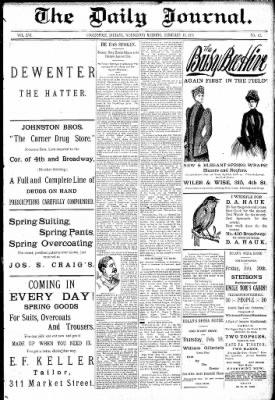 Logansport Pharos-Tribune from Logansport, Indiana on February 18, 1891 · Page 1