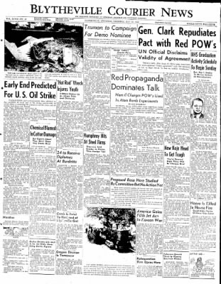 The Courier News from Blytheville, Arkansas on May 15, 1952 · Page 1