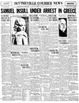 The Courier News from Blytheville, Arkansas on October 10, 1932 · Page 1