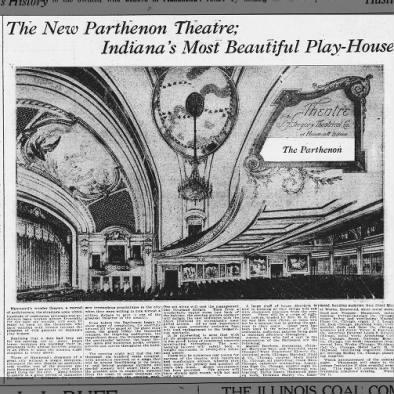 Parthenon theatre interior