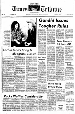 The Corbin Times-Tribune from Corbin, Kentucky on June 30, 1975 · Page 1