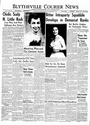 The Courier News from Blytheville, Arkansas on September 18, 1954 · Page 1