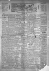 Sample Missionary Searchlight front page