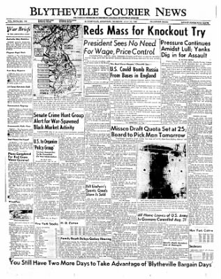 The Courier News from Blytheville, Arkansas on July 27, 1950 · Page 1