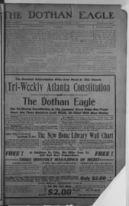 Sample Dothan Eagle front page