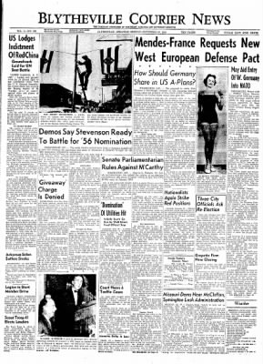 The Courier News from Blytheville, Arkansas on September 20, 1954 · Page 1