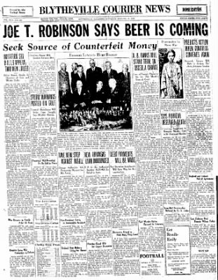 The Courier News from Blytheville, Arkansas on October 15, 1932 · Page 1