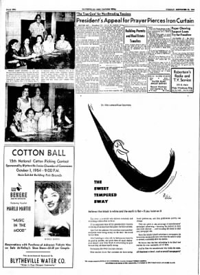 The Courier News from Blytheville, Arkansas on September 21, 1954 · Page 2