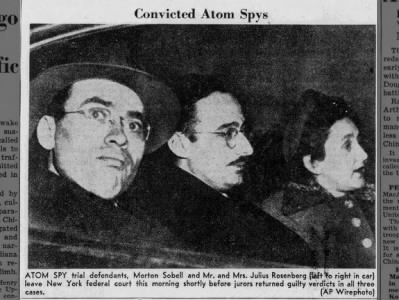 Clip of the Day: Morton Sobell, Julius and Ethel Rosenberg Convicted of Selling Atomic Secrets to the Soviet Union