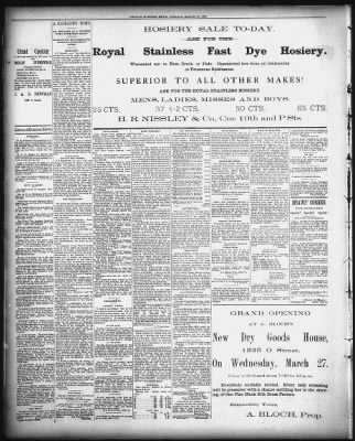 Lincoln Journal Star from Lincoln, Nebraska on March 26, 1889 · 4