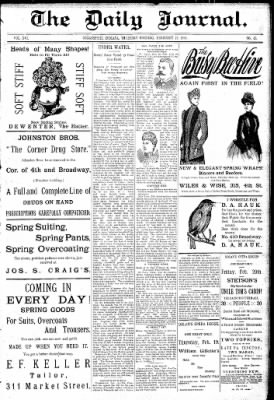 Logansport Pharos-Tribune from Logansport, Indiana on February 19, 1891 · Page 1