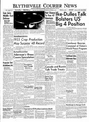 The Courier News from Blytheville, Arkansas on October 12, 1955 · Page 1