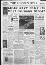 Newspaper front page reports