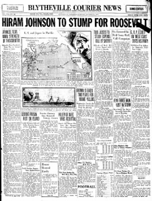 The Courier News from Blytheville, Arkansas on October 22, 1932 · Page 1