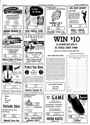 The Courier News from Blytheville, Arkansas on September 22, 1954 · Page 6