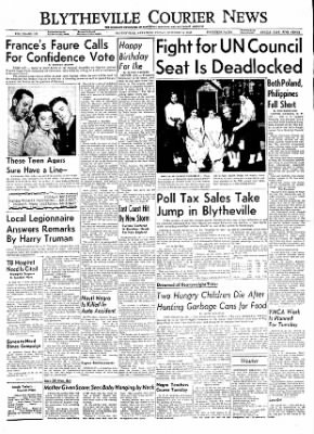 The Courier News from Blytheville, Arkansas on October 14, 1955 · Page 1