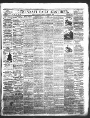 The Cincinnati Enquirer from Cincinnati, Ohio on September 23, 1858 · Page 1