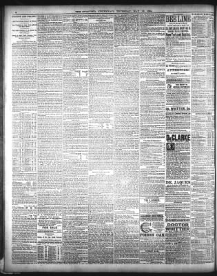 the cincinnati enquirer from cincinnati, ohio on may 15, 1884 · page 6